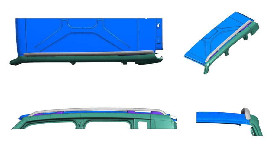 Roof racks design process