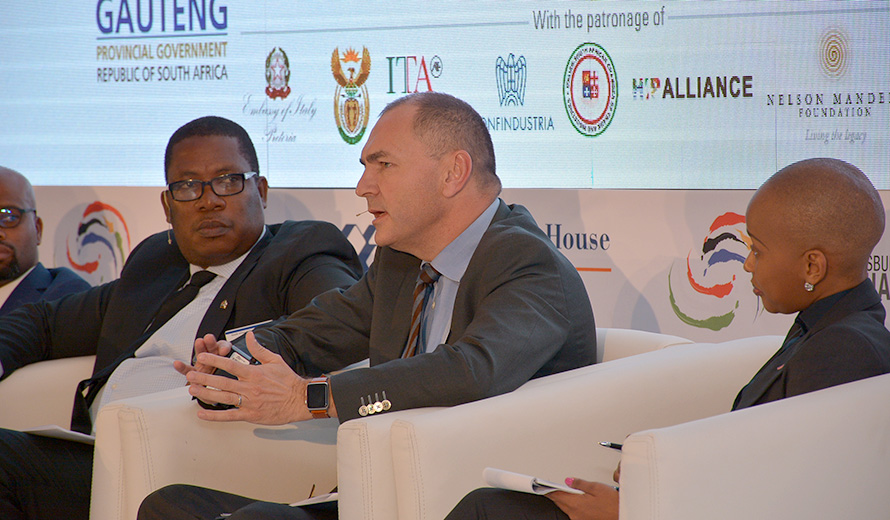 Vincent Lemaire, Country Manager South Africa, durante la sessione del summit