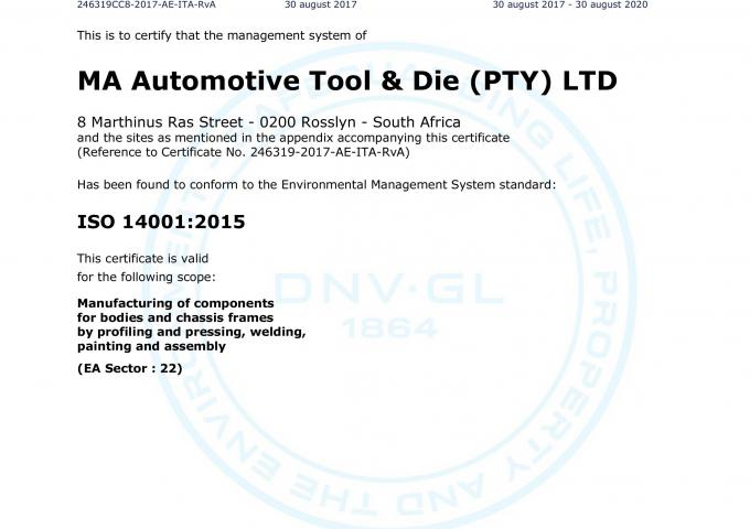 ISO 14001 MA South Africa