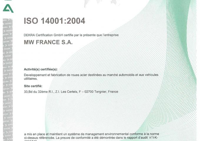 ISO 14001 MW France