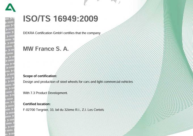 ISO 16949 MW France