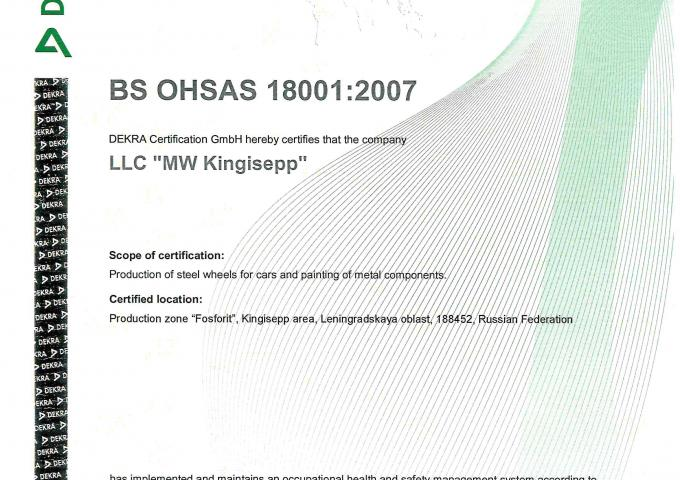 ISO 18001 MW Russia